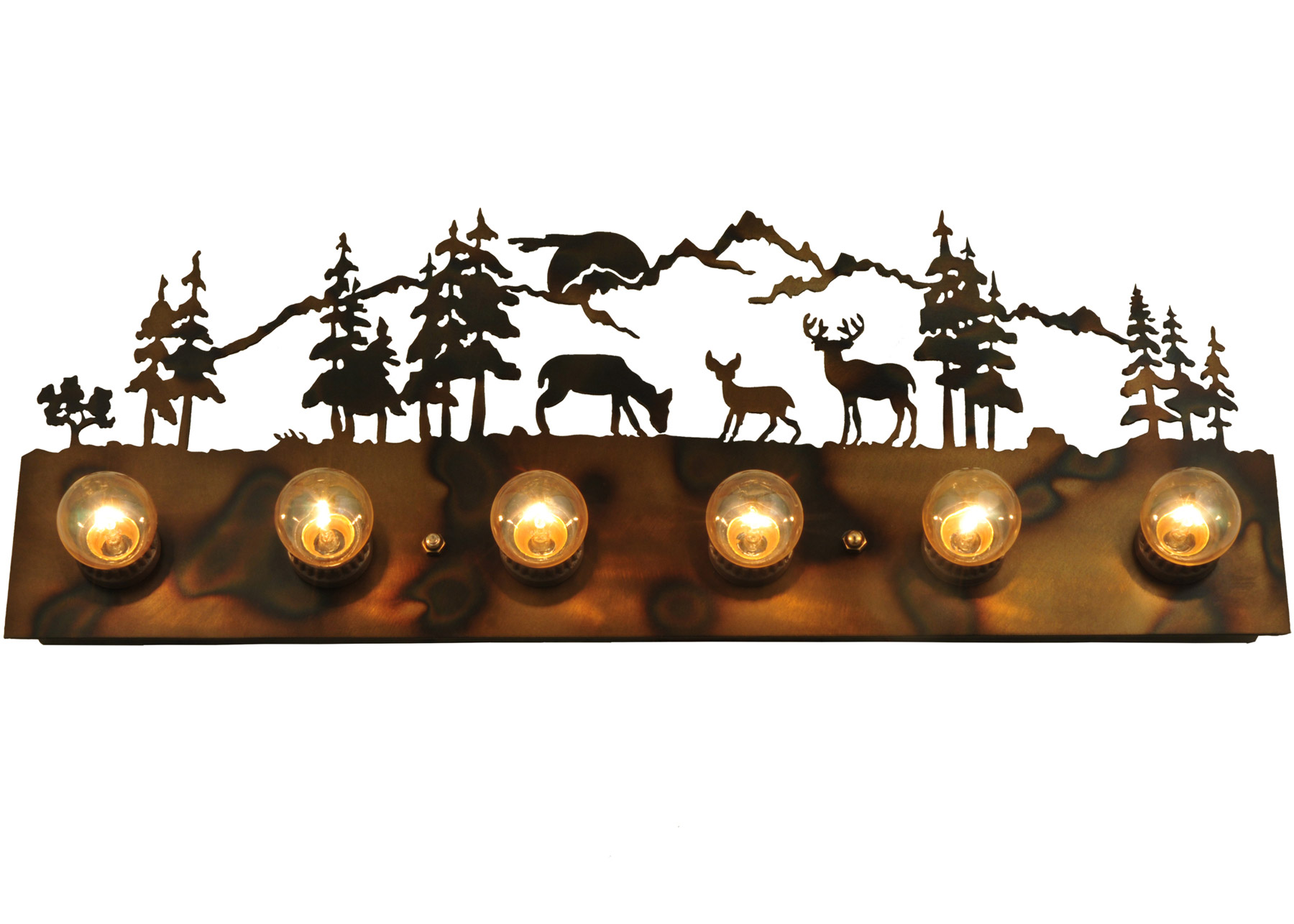 Deer Bathroom Vanity Lights : Meyda 129909 Deer Family Vanity Light