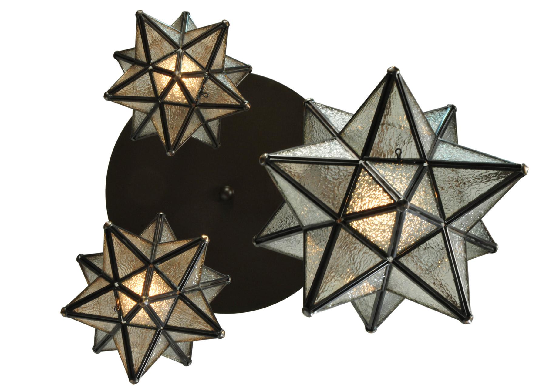 Meyda 130969 Moravian Star 3 Light Shower Multi Pendant