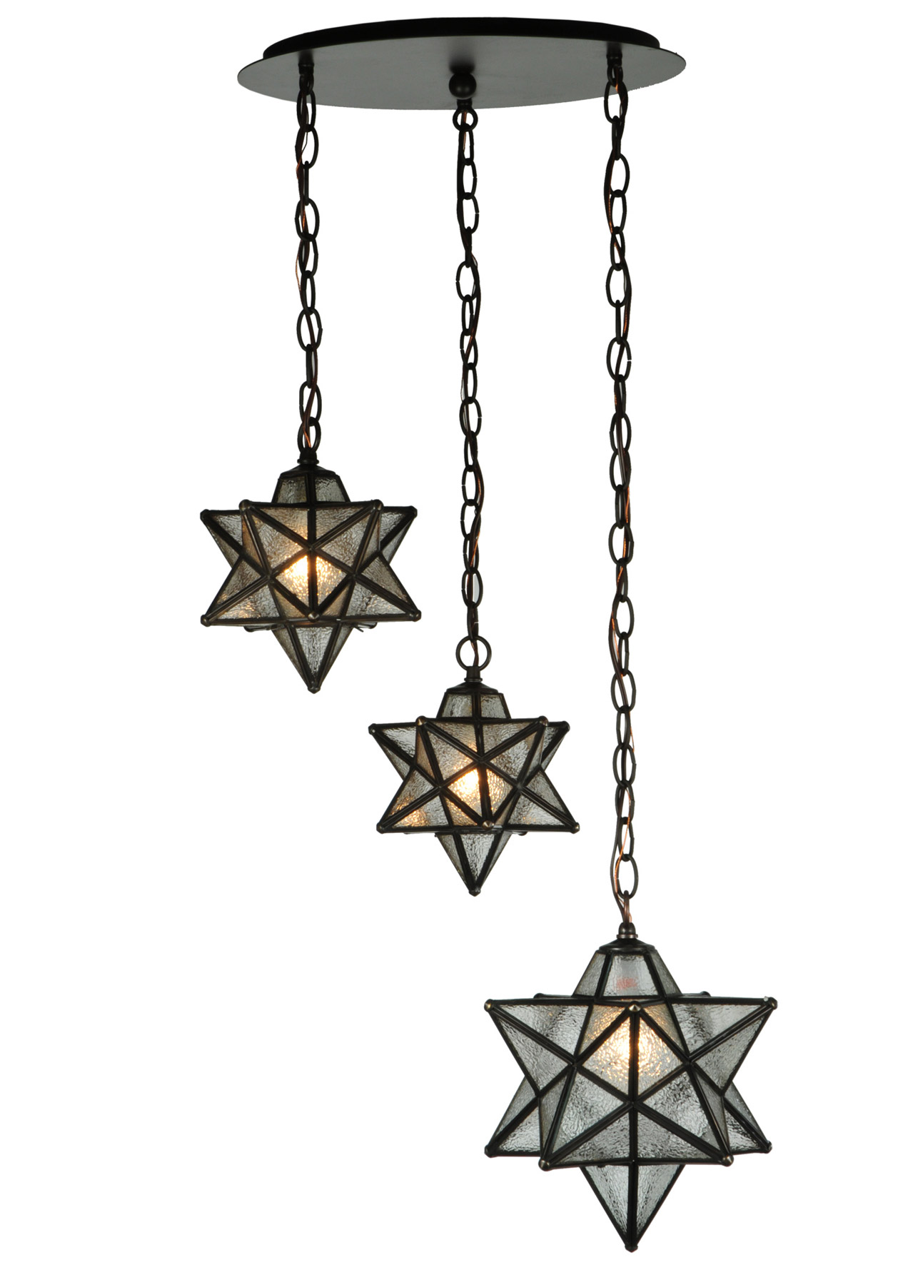 traditional moravian star 3 light shower multi pendant fixture meyda. Black Bedroom Furniture Sets. Home Design Ideas