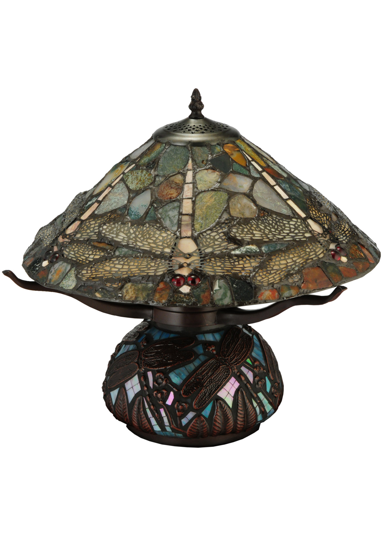 Meyda 138103 dragonfly agate table lamp alternate image 4 aloadofball Gallery