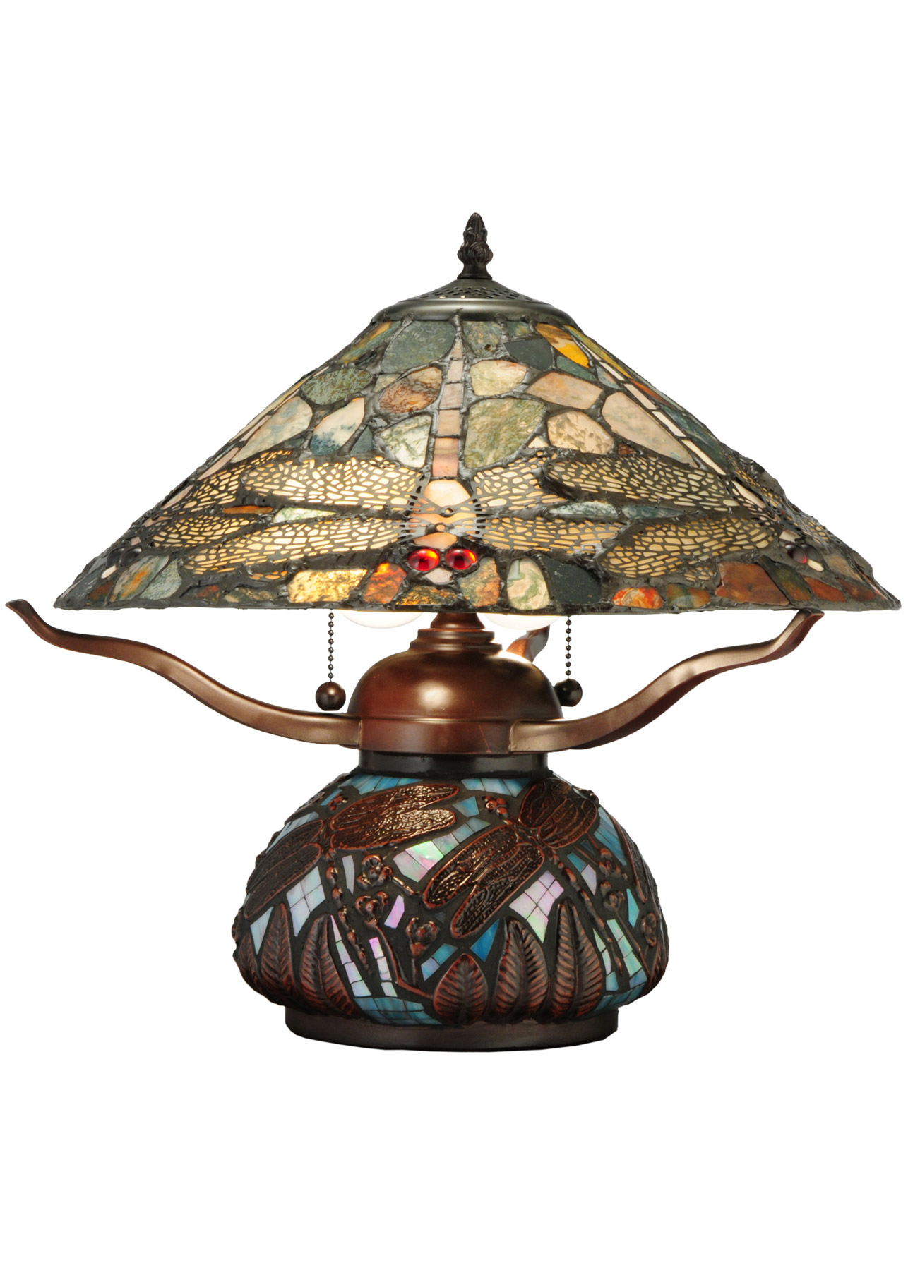 Meyda 138103 dragonfly agate table lamp alternate image 6 geotapseo Gallery