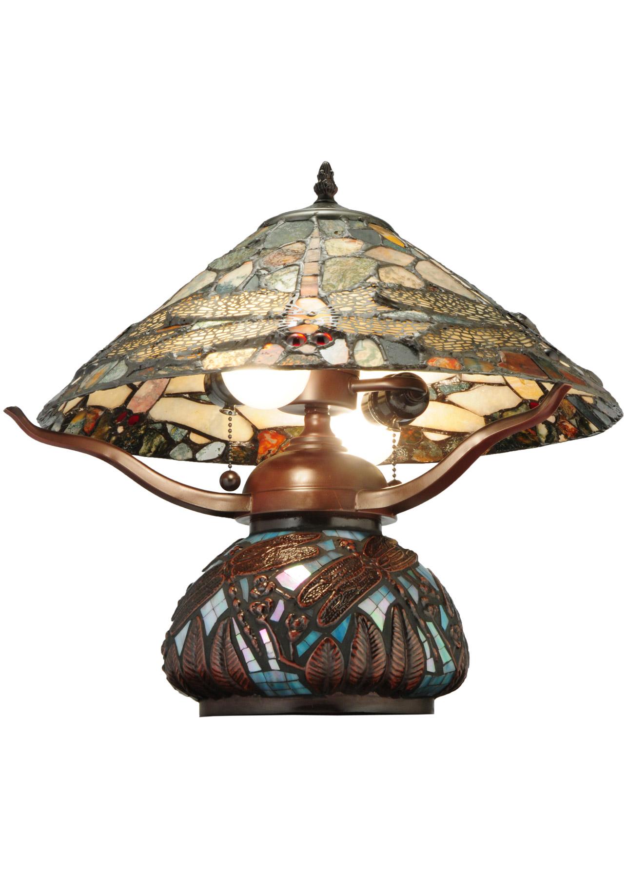 Meyda 138103 Dragonfly Agate Table Lamp