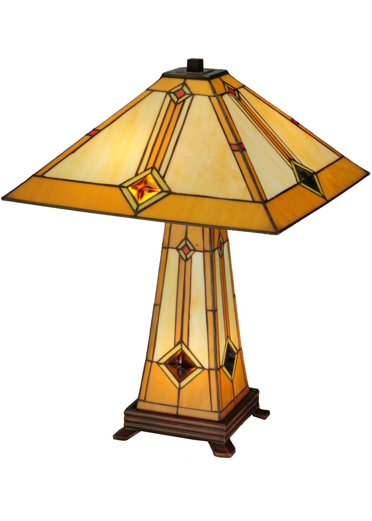 Meyda 138111 Diamond 17 Quot Sq Table Lamp