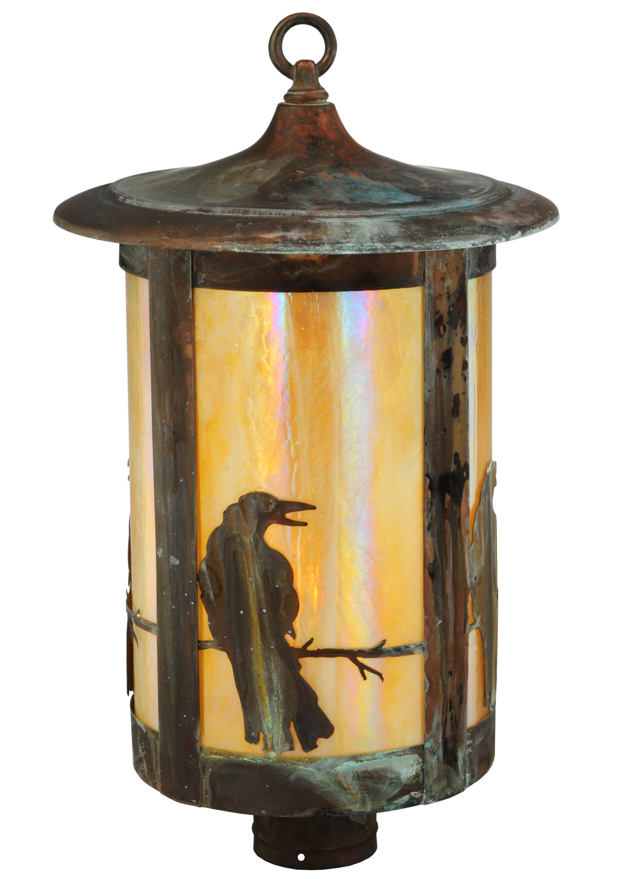 Meyda 139412 Fulton Crow Outdoor Post Mount