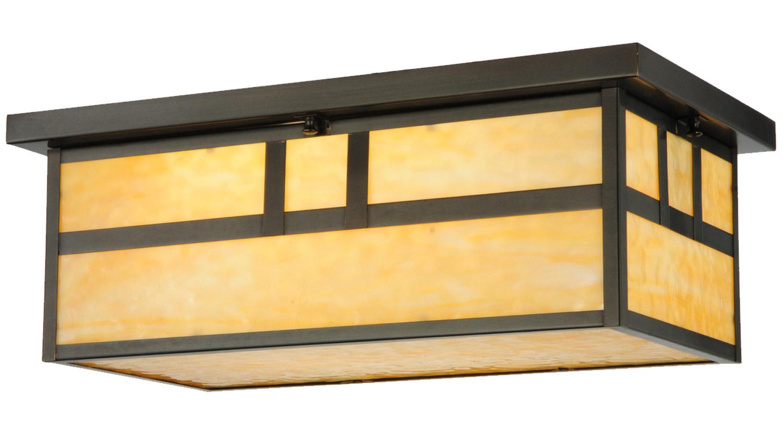 rectangular flush mount ceiling light cut glass meyda 141527 hyde park double bar rectangular flush mount