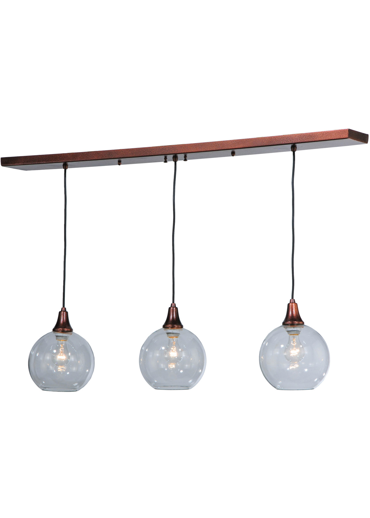 meyda 142455 bolla linear 3 light multi pendant fixture