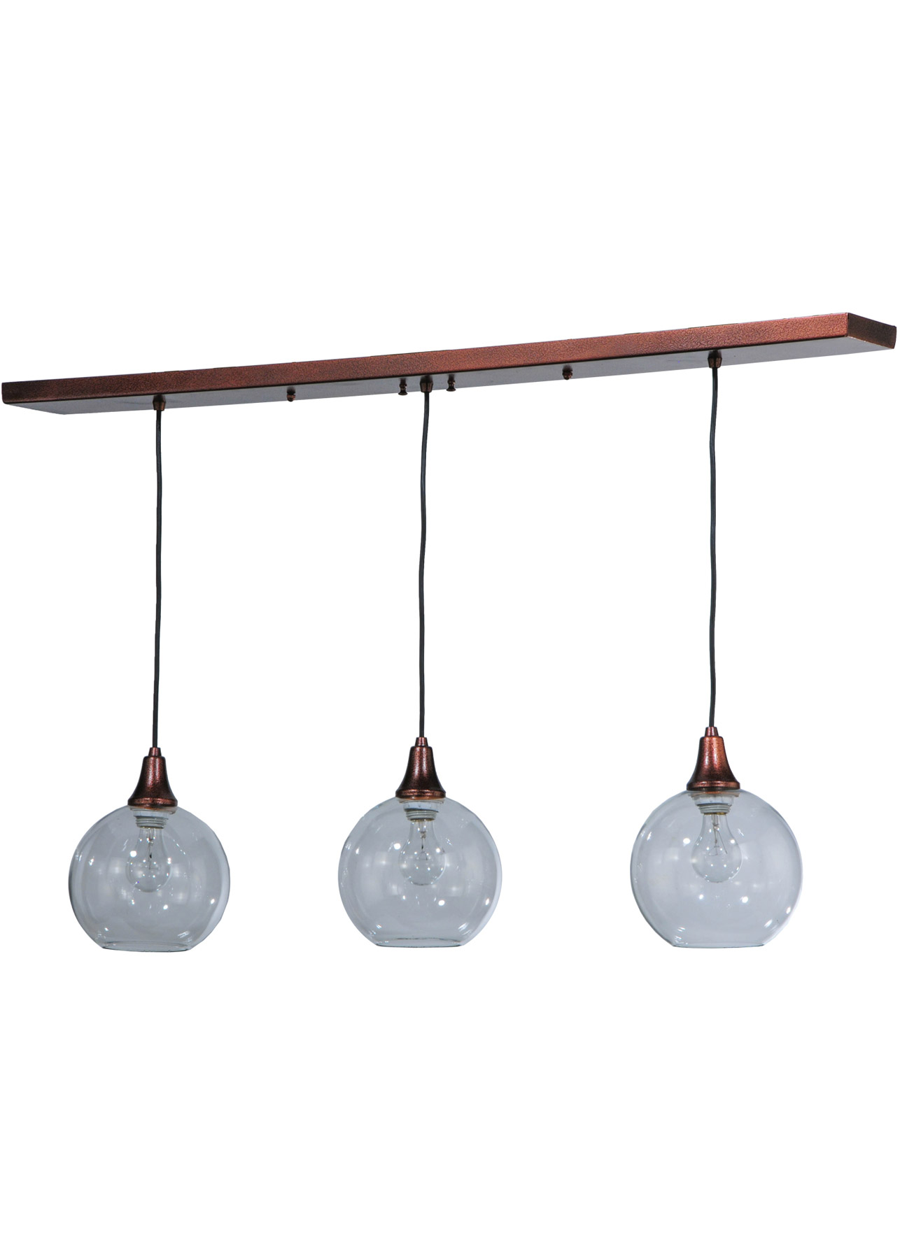 Meyda 142455 Bolla Linear 3 Light Multi Pendant Fixture