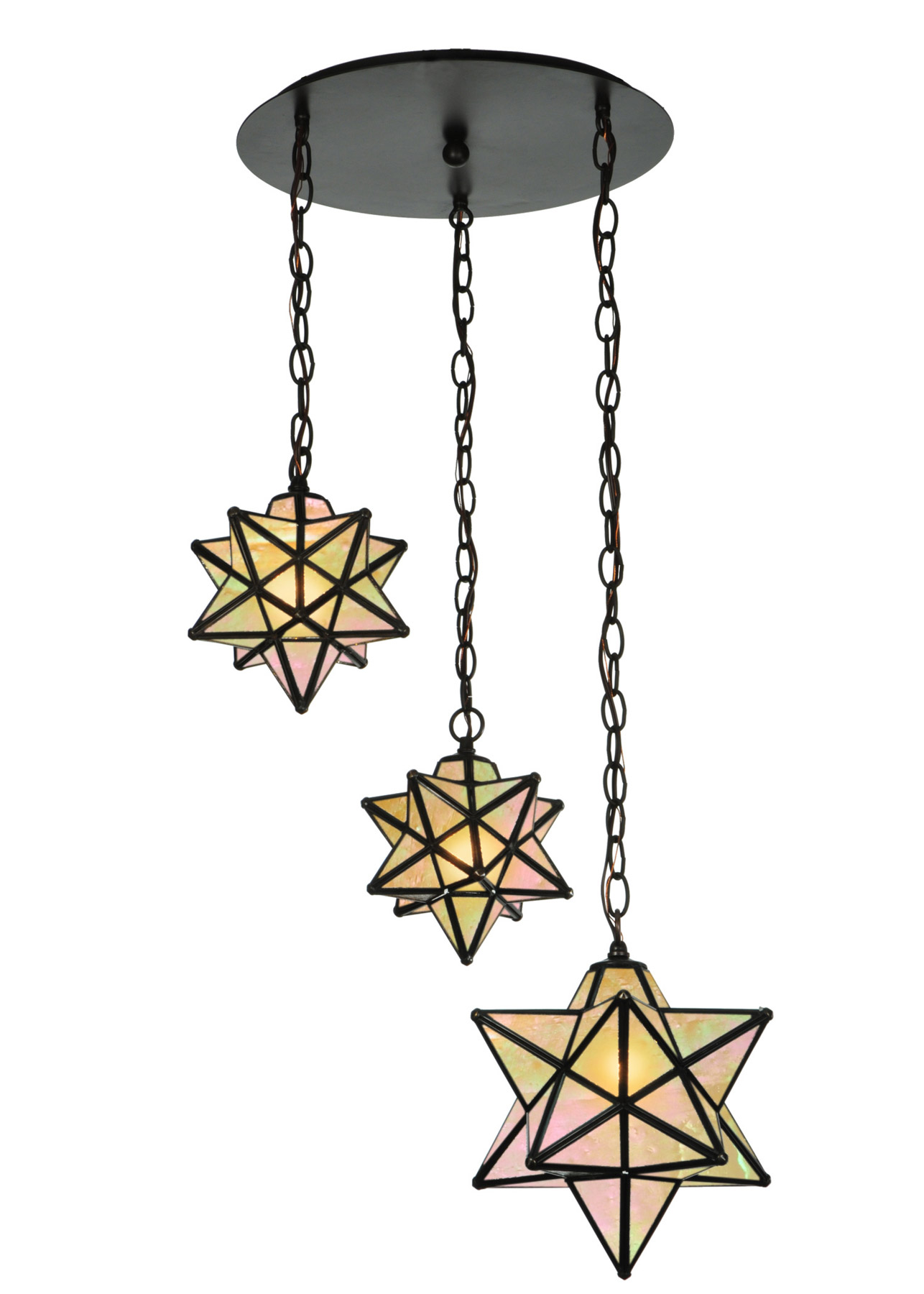 Meyda 143177 Moravian Star 3 Light Shower Multi Pendant