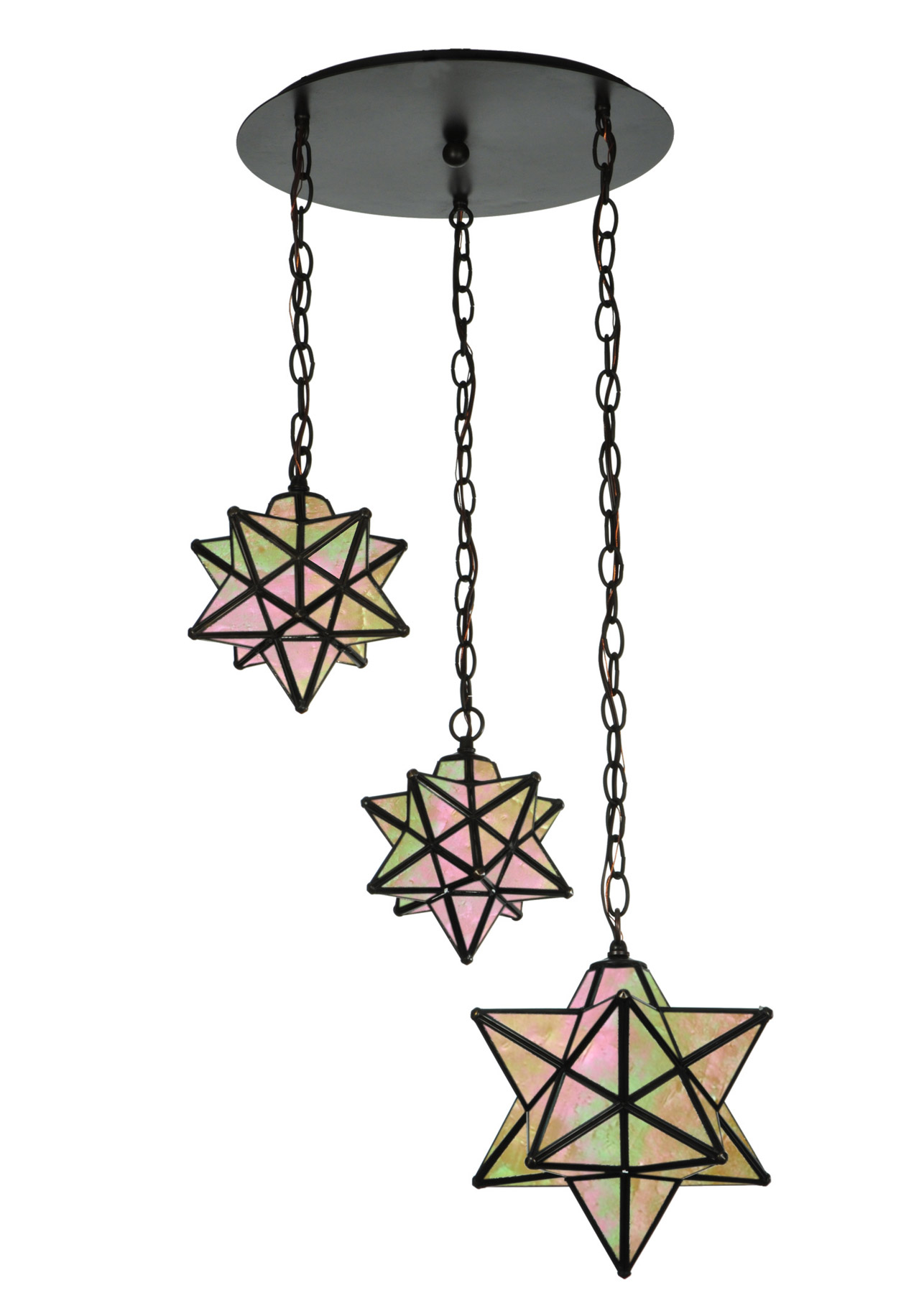 meyda 143177 moravian star 3 light shower multi pendant fixture. Black Bedroom Furniture Sets. Home Design Ideas