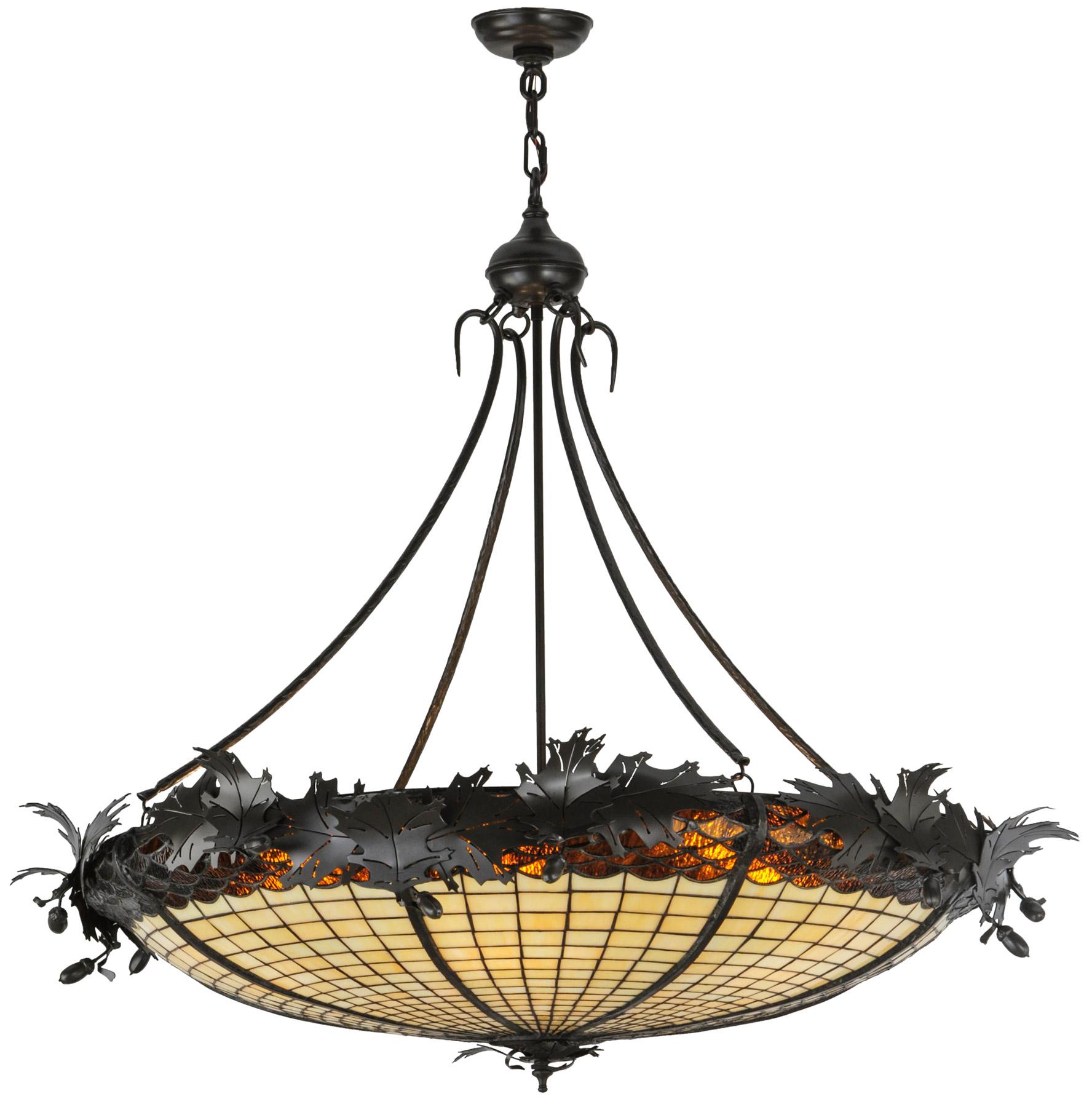 sc 1 st  L&s Beautiful & Meyda 144387 Greenbriar Oak Inverted Pendant