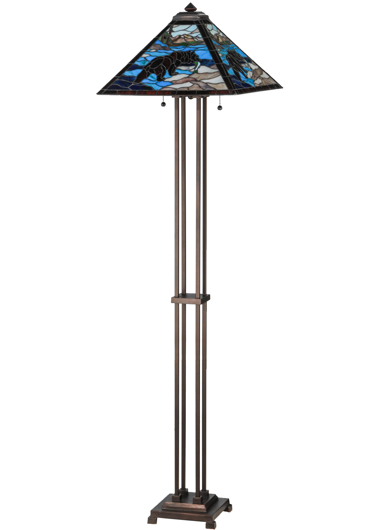 Meyda 145045 Grizzly Bear 17 Quot Sq Floor Lamp