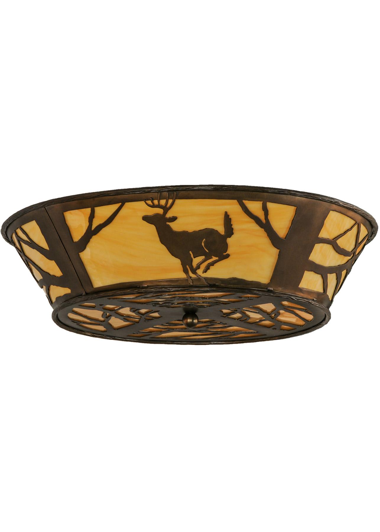 Meyda 145717 Deer On The Loose Flush Mount Ceiling Fixture