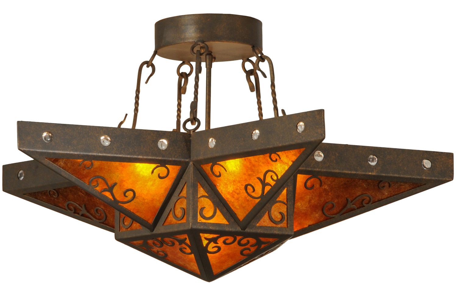 Meyda 146797 Star Semi Flush Mount Ceiling Fixture