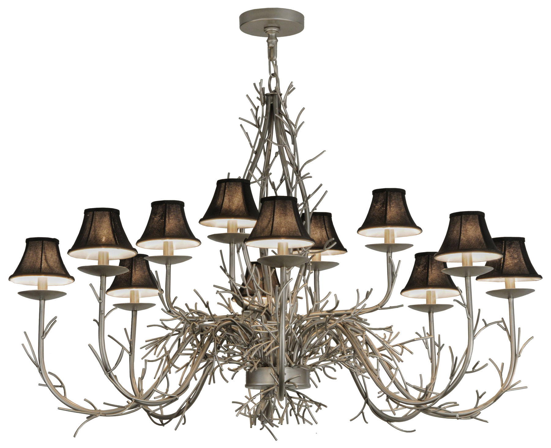 Meyda 147591 Twig Twelve Light Chandelier