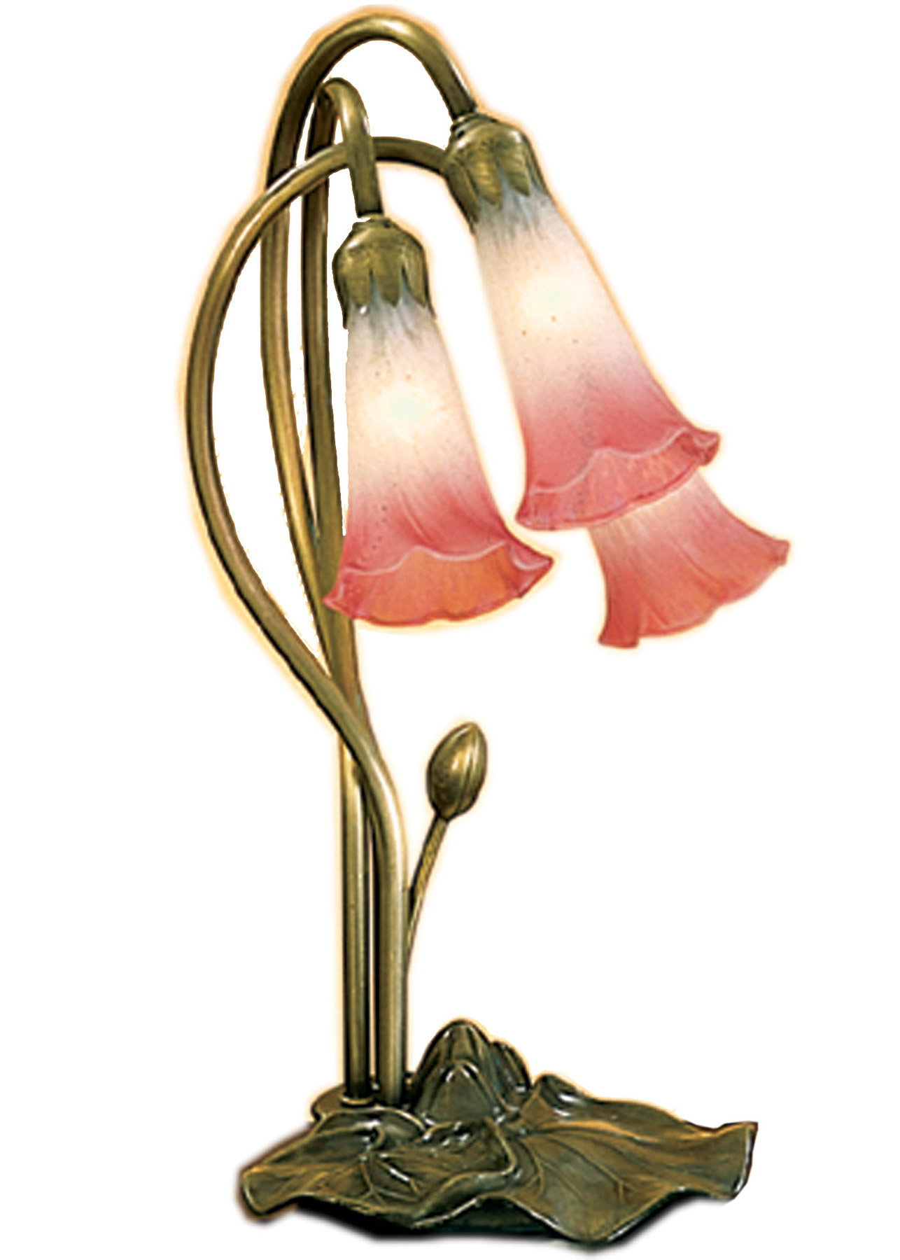 Meyda 14813 Pond Lily Pink White Accent Lamp