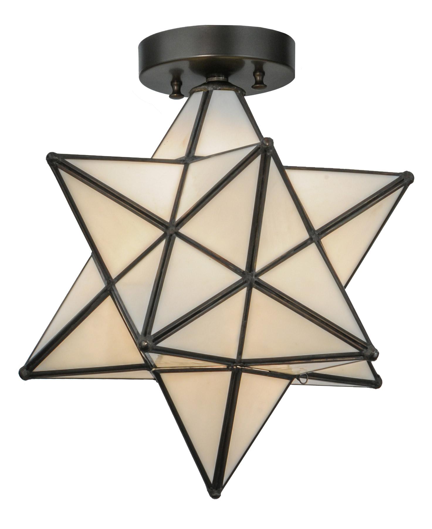 Meyda moravian star flush mount ceiling fixture