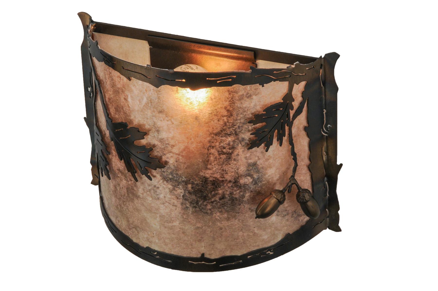 Meyda 148889 Oak Leaf Amp Acorn Wall Sconce