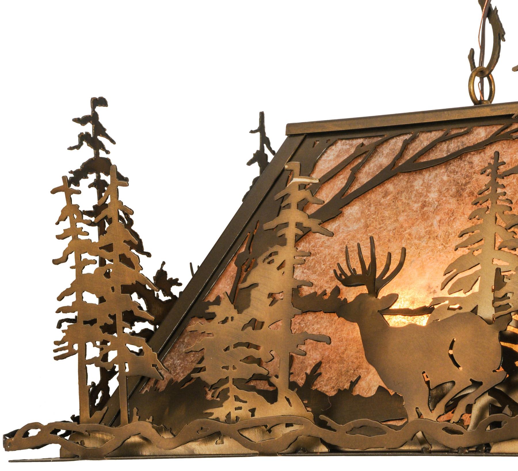 Meyda 148975 Deer Through The Trees Island Light