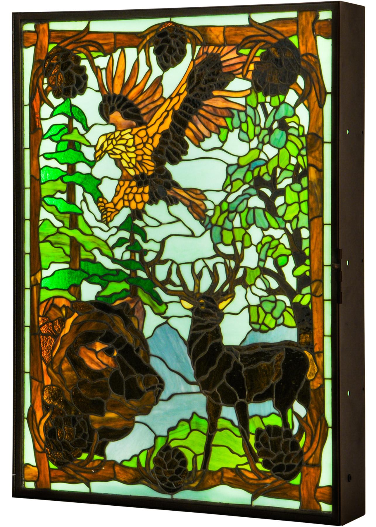Meyda 149464 Wilderness Lighted Tiffany Dual Sided Led