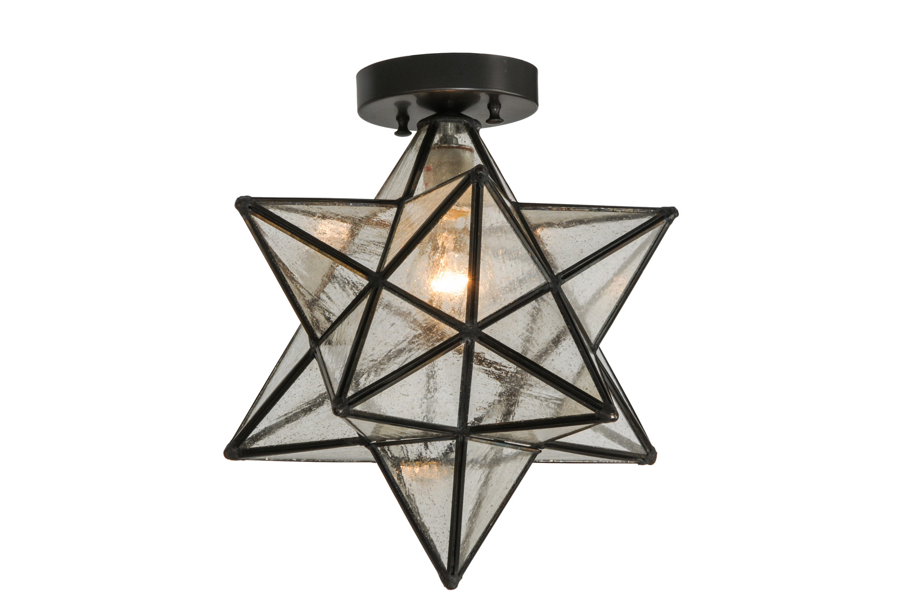 Decorative Star Ceiling Light Semi Flush Bathroom Fixture: Meyda 150958 Moravian Star Flush Mount Ceiling Fixture