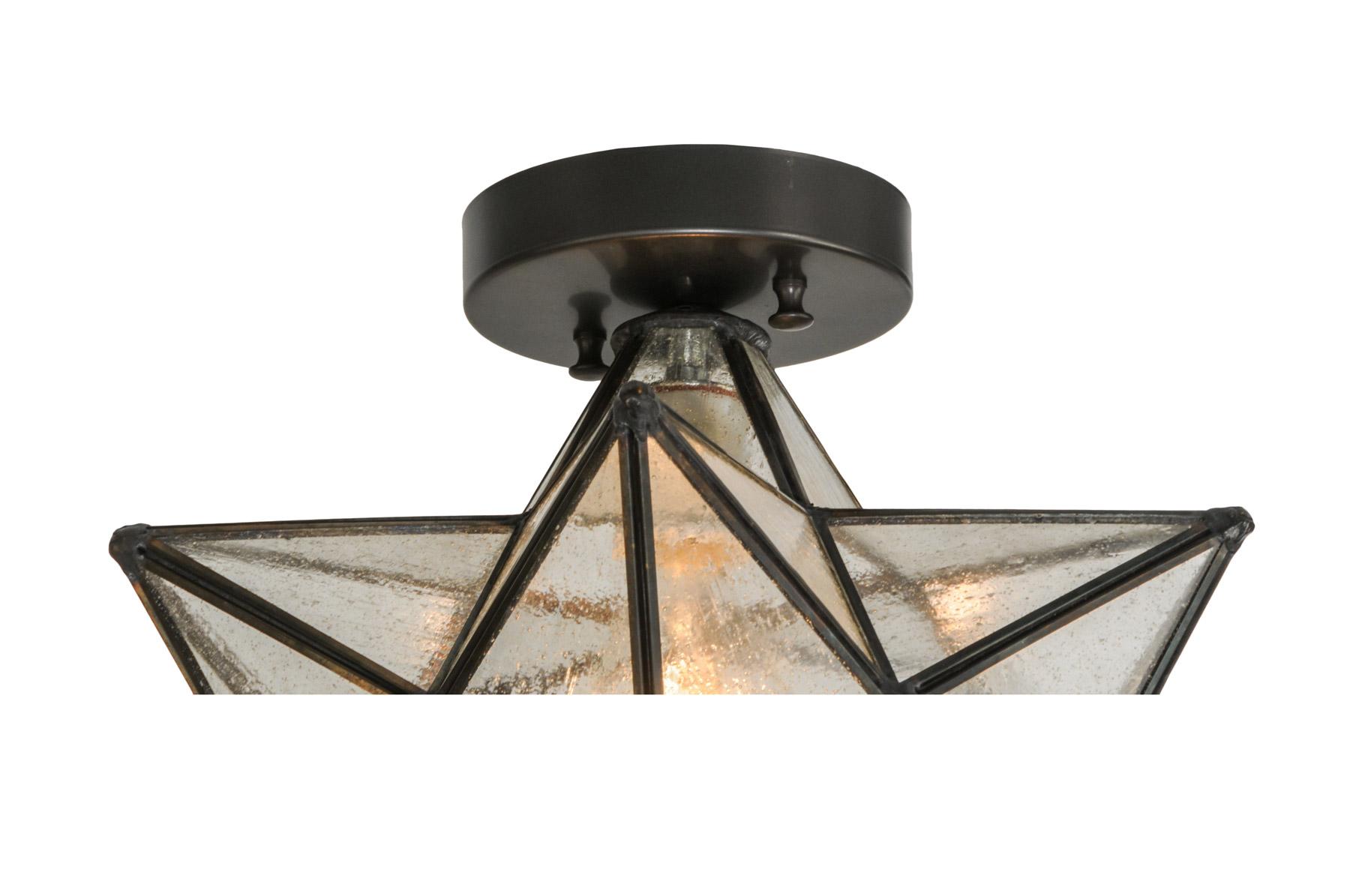 Meyda 150958 Moravian Star Flush Mount Ceiling Fixture