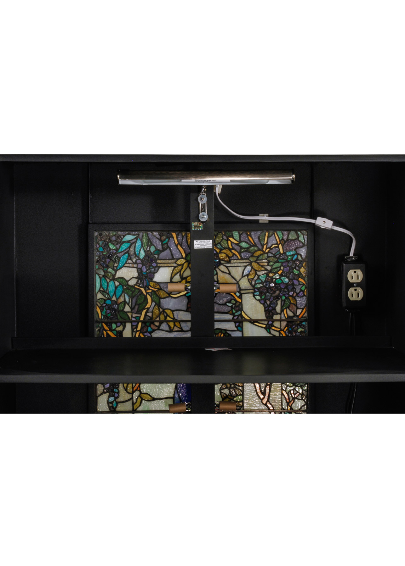 meyda 152407 peacock lighted podium. Black Bedroom Furniture Sets. Home Design Ideas