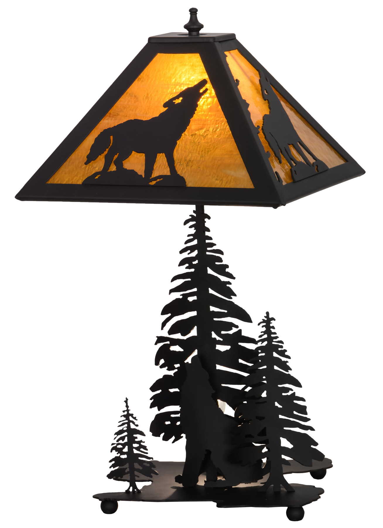 Meyda 152949 Howling Wolf Table Lamp