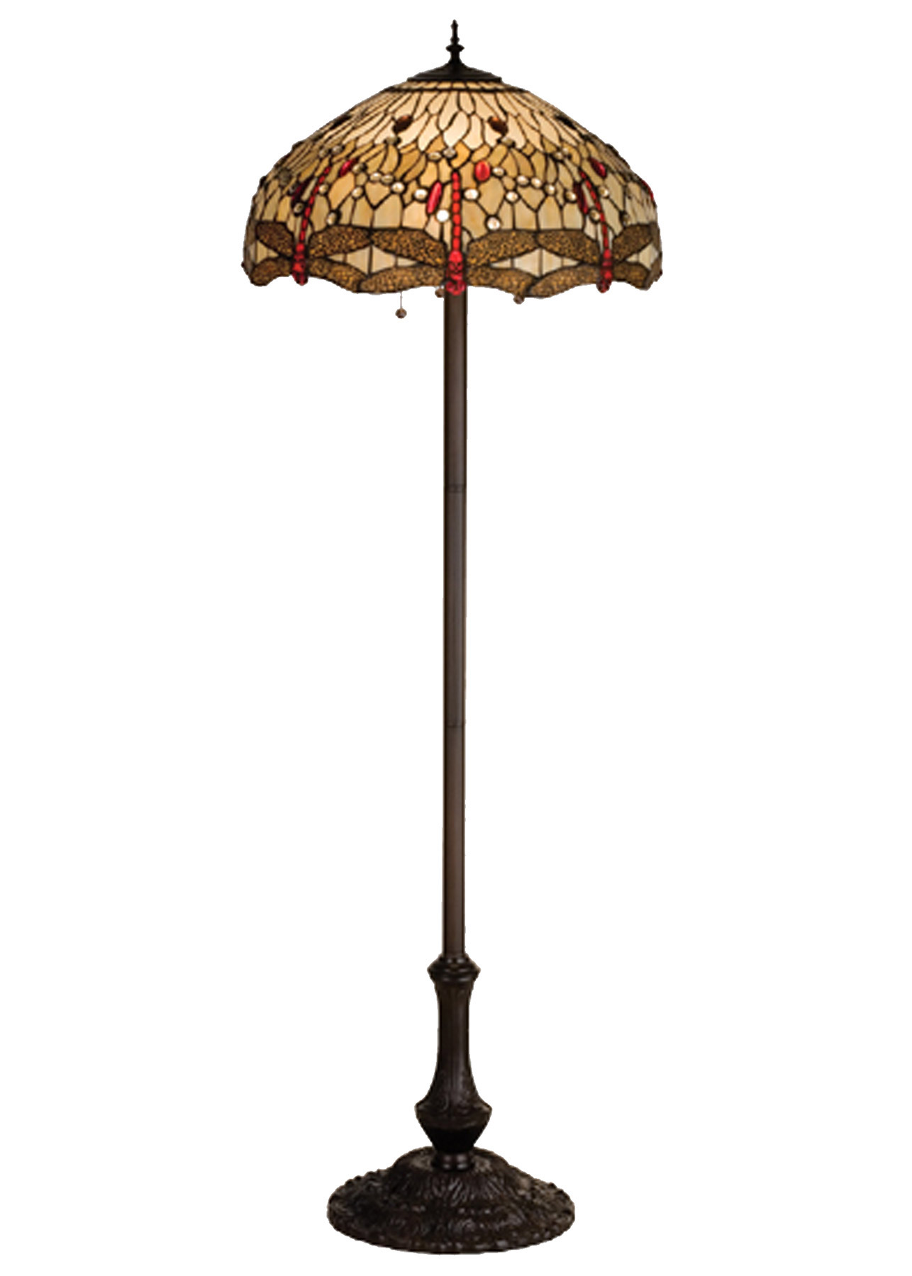 Meyda 17473 Tiffany Hanginghead Dragonfly Floor Lamp