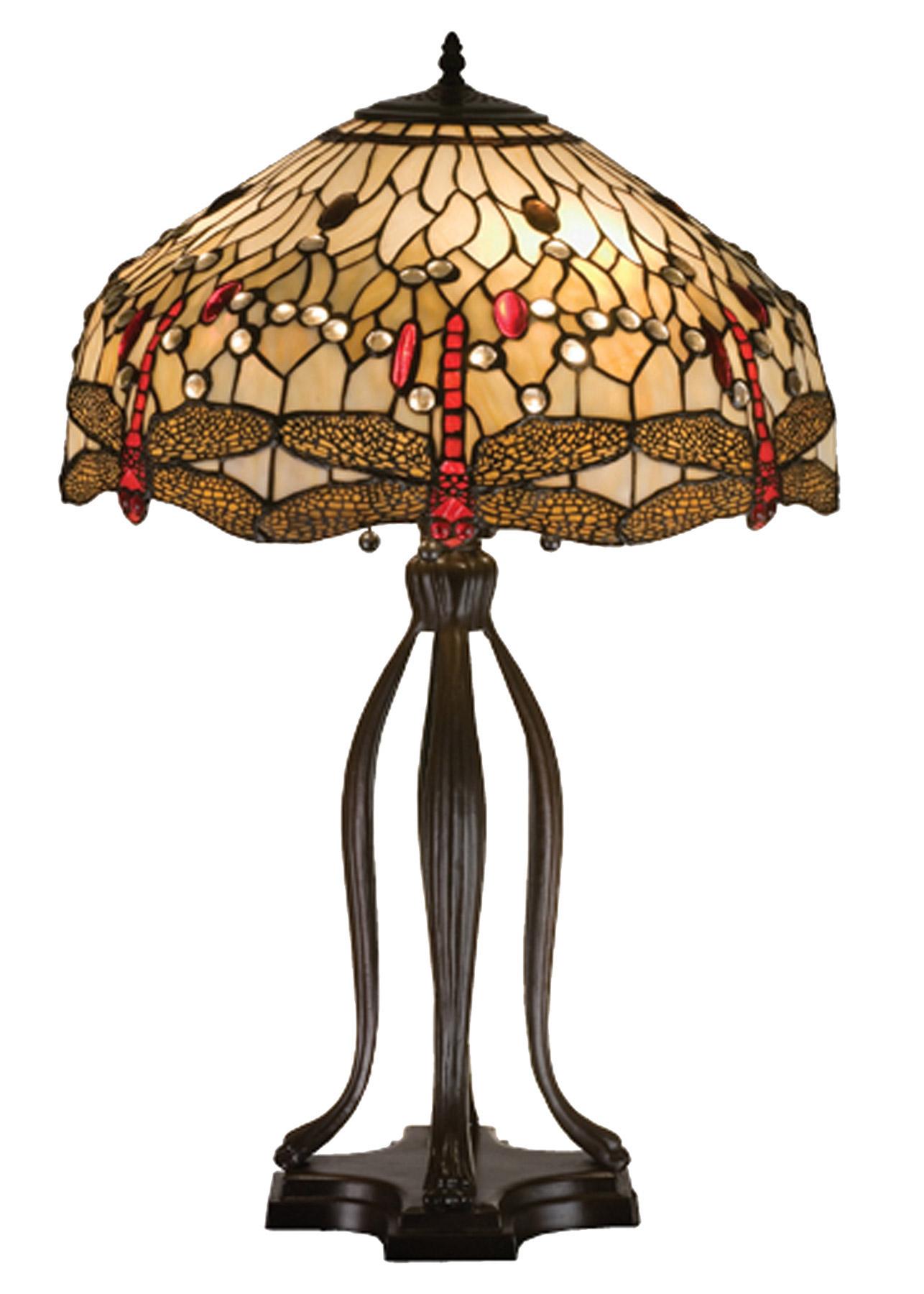Meyda 17500 Tiffany Dragonfly Table Lamp