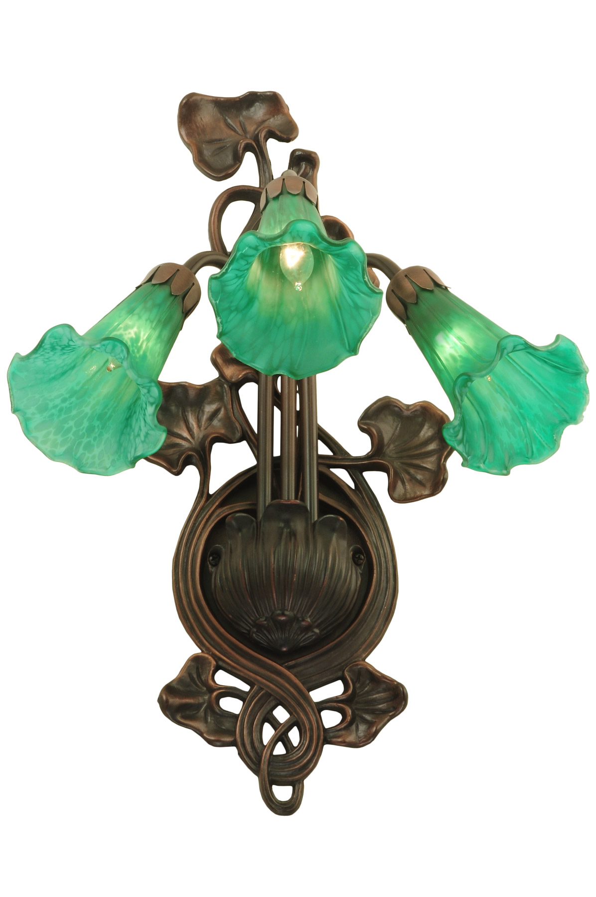 Meyda 17537 Pond Lily Green Wall Sconce