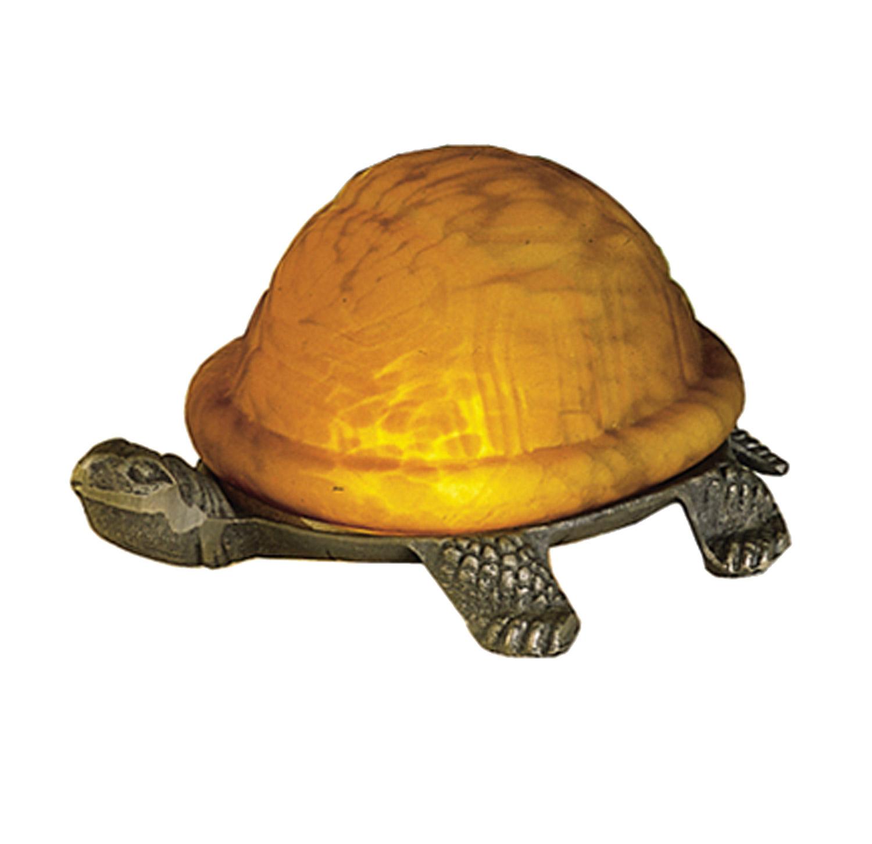 Meyda 18004 Turtle Art Glass Accent Lamp