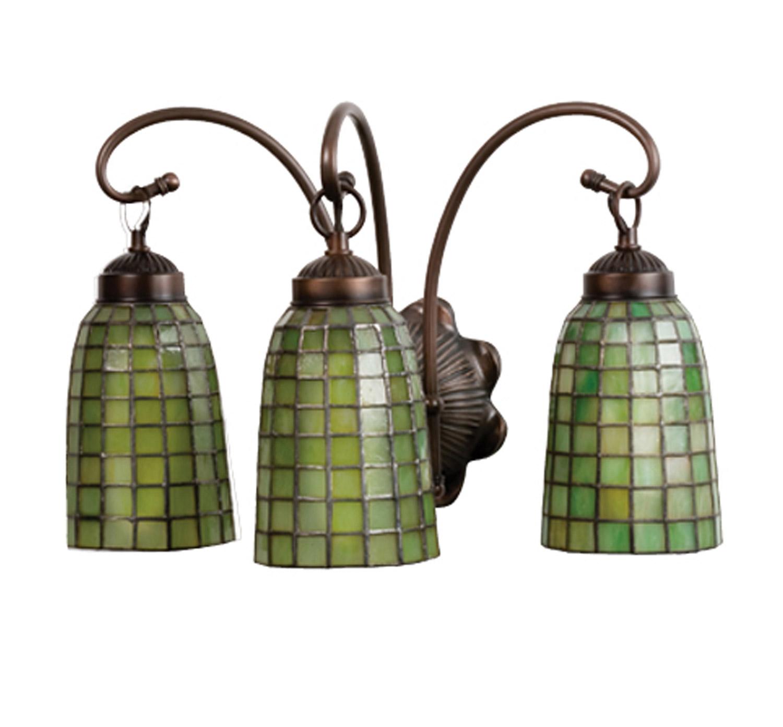 Tiffany Bathroom Lighting: Meyda 18640 Tiffany Terra Verde Vanity Light