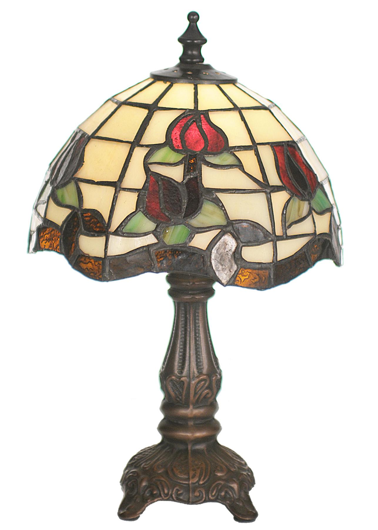 meyda 19189 tiffany roseborder table lamp. Black Bedroom Furniture Sets. Home Design Ideas
