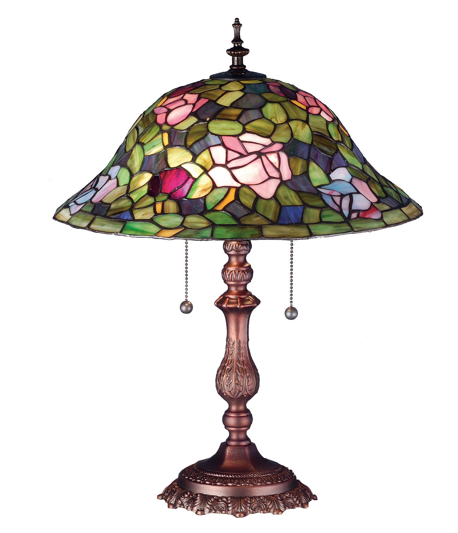 meyda 19769 tiffany rosebush table lamp. Black Bedroom Furniture Sets. Home Design Ideas