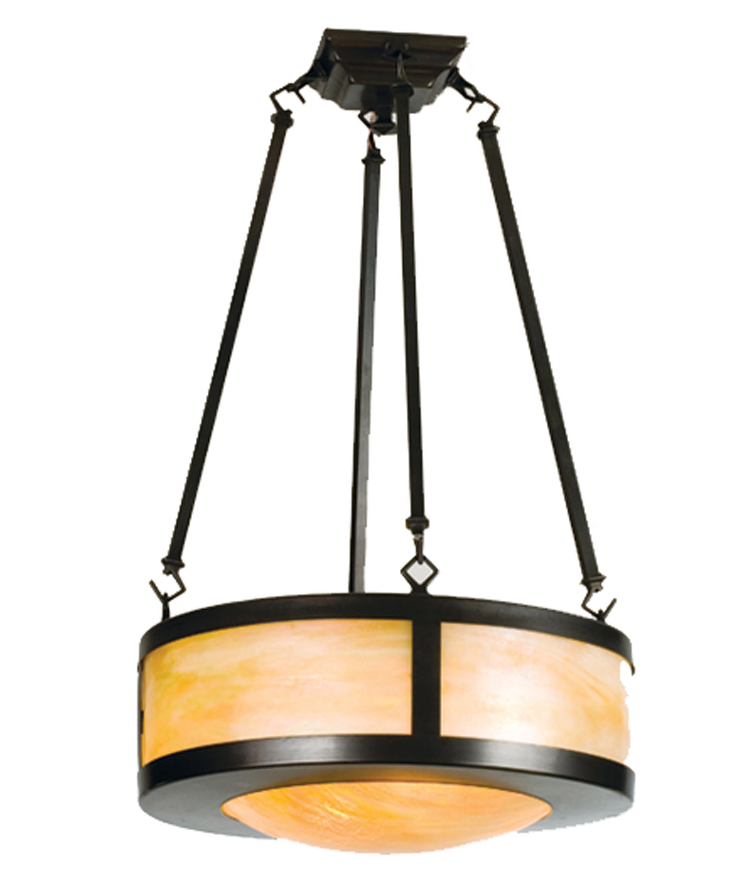 Meyda 23787 arts crafts semi flush ceiling fixture for Arts and crafts flush mount lighting