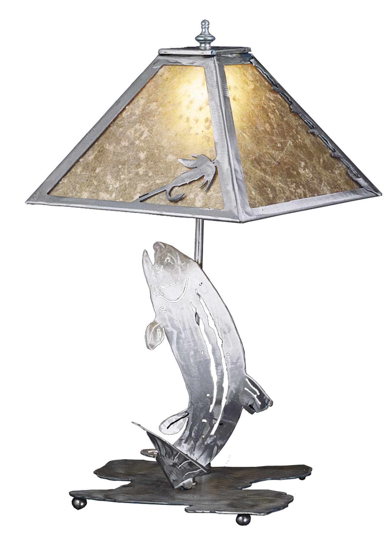 Meyda 24231 Fly Fishing Trout Table Lamp