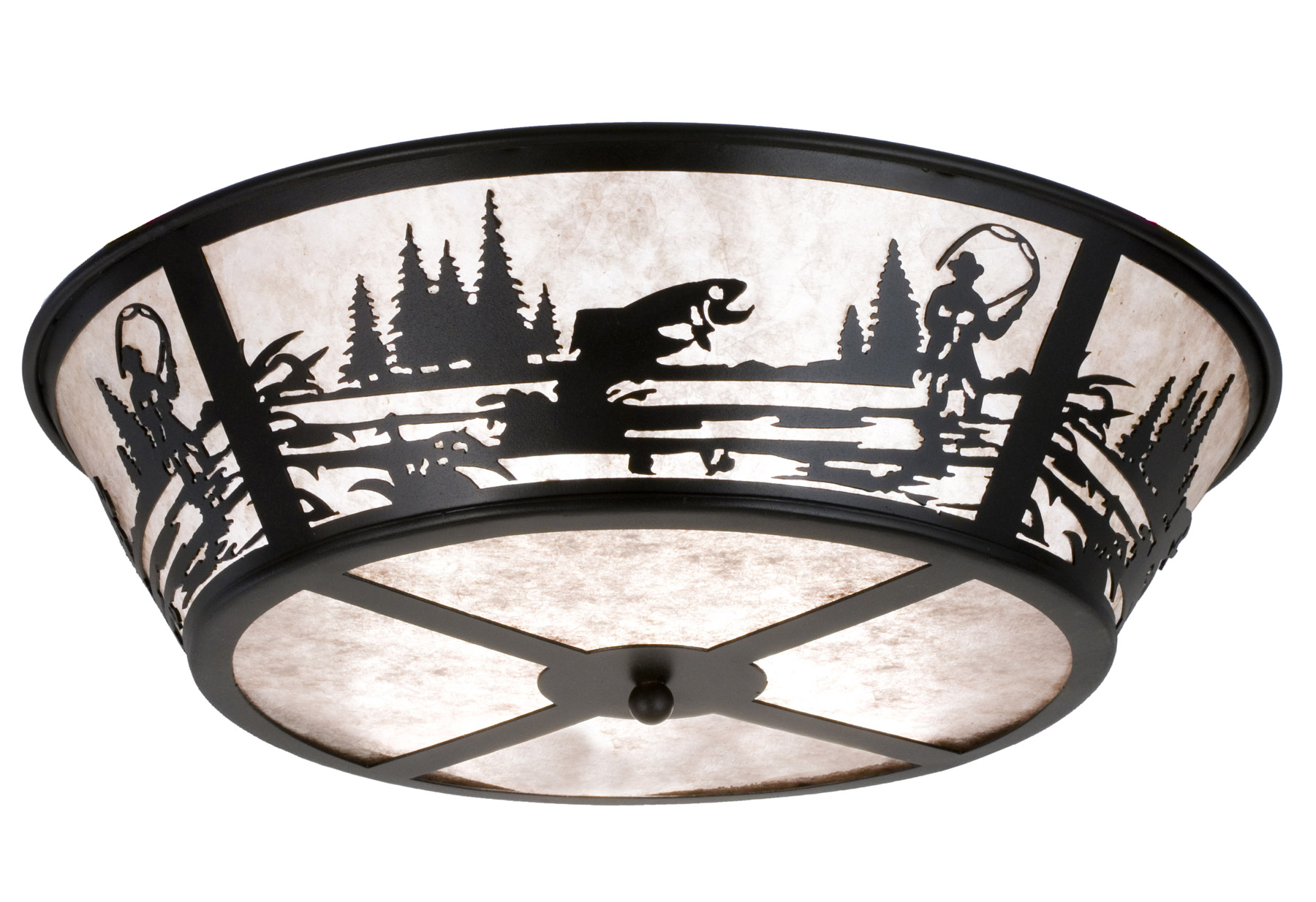 Meyda 26222 Fly Fishing Creek Flush Mount Ceiling Fixture