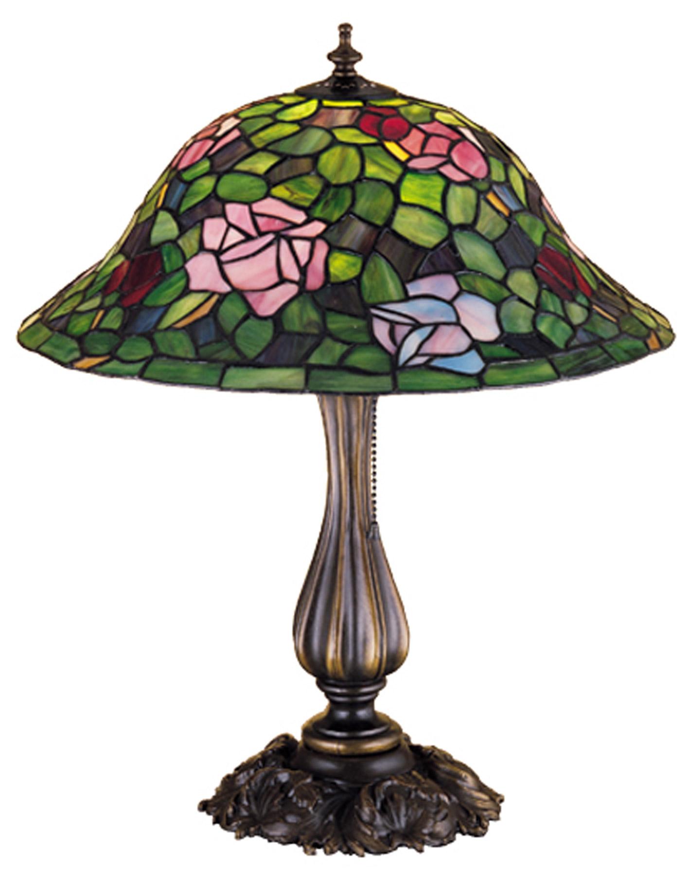 meyda 26489 tiffany rosebush table lamp. Black Bedroom Furniture Sets. Home Design Ideas