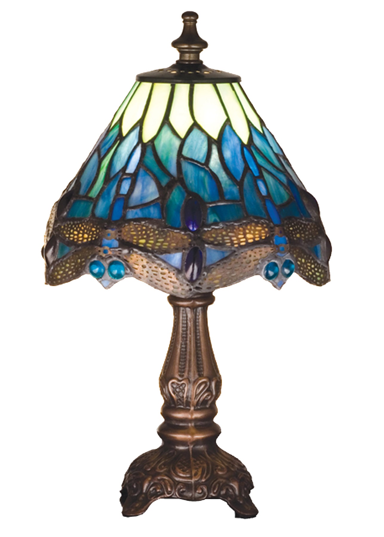 Meyda 26597 Tiffany Dragonfly Mini Accent Lamp