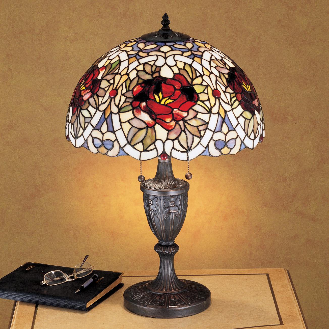 Meyda 26674 Tiffany Renaissance Rose Table Lamp