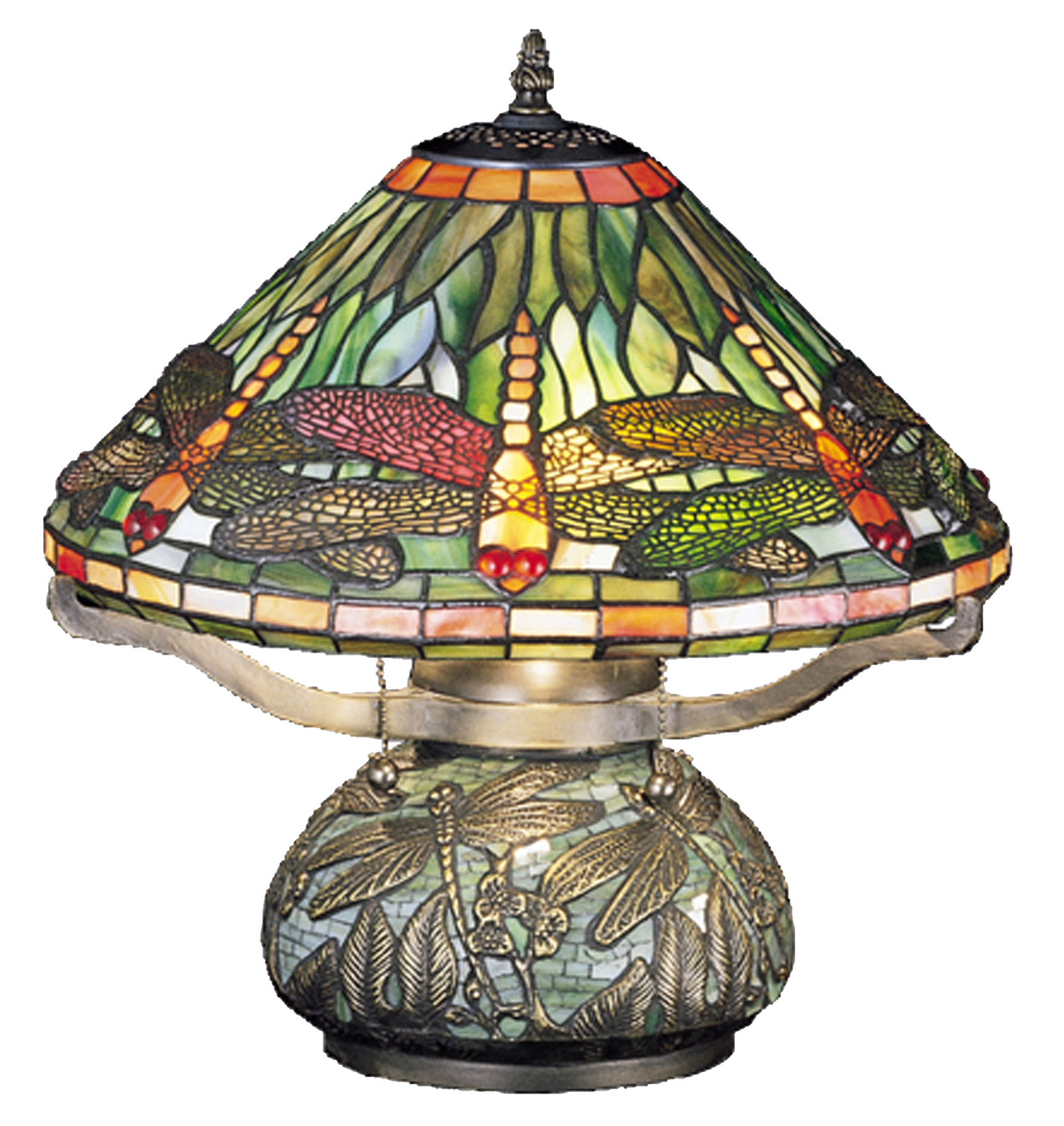 Perfect Meyda 26681 Tiffany Dragonfly W/Tiffany Mosaic Base Table Lamp