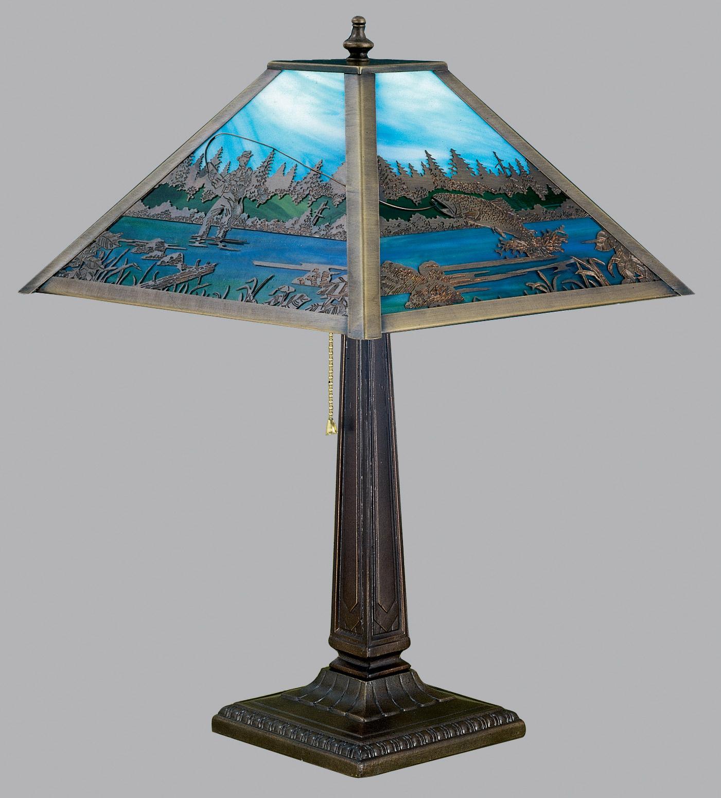 Meyda 26760 Fly Fishing Creek Table Lamp