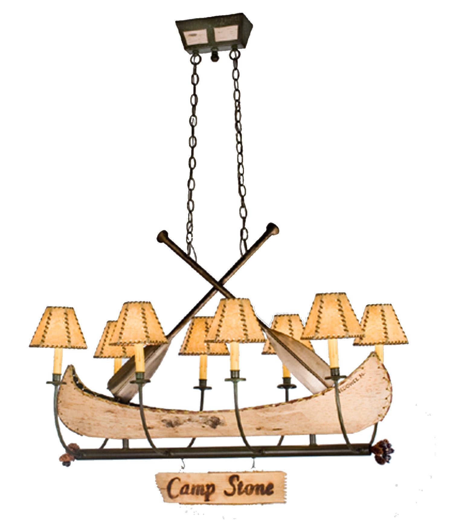 Meyda Personalized Canoe Eight Light Oval Chandelier