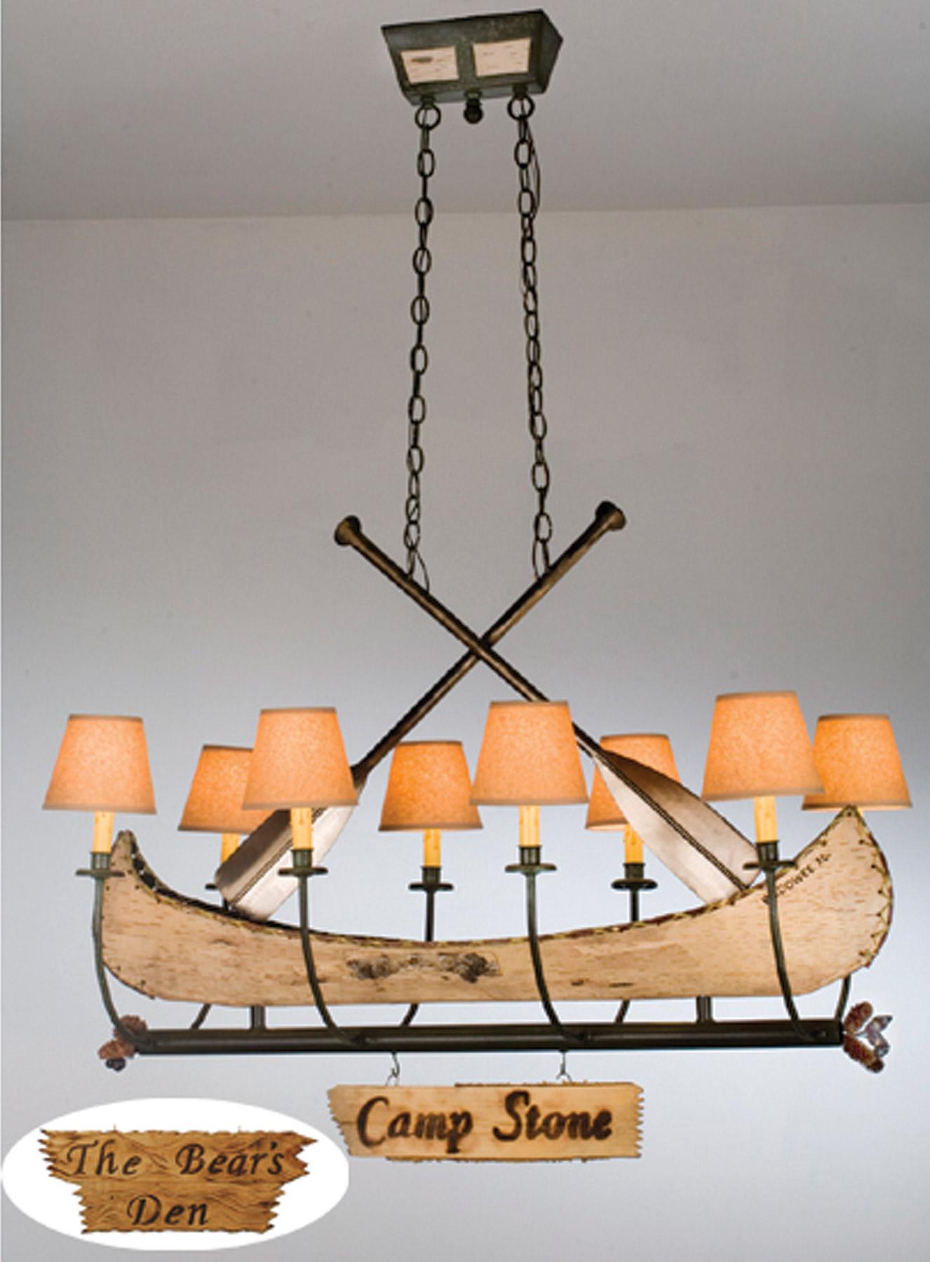 Meyda 26977 Personalized Canoe Eight Light Oval Chandelier