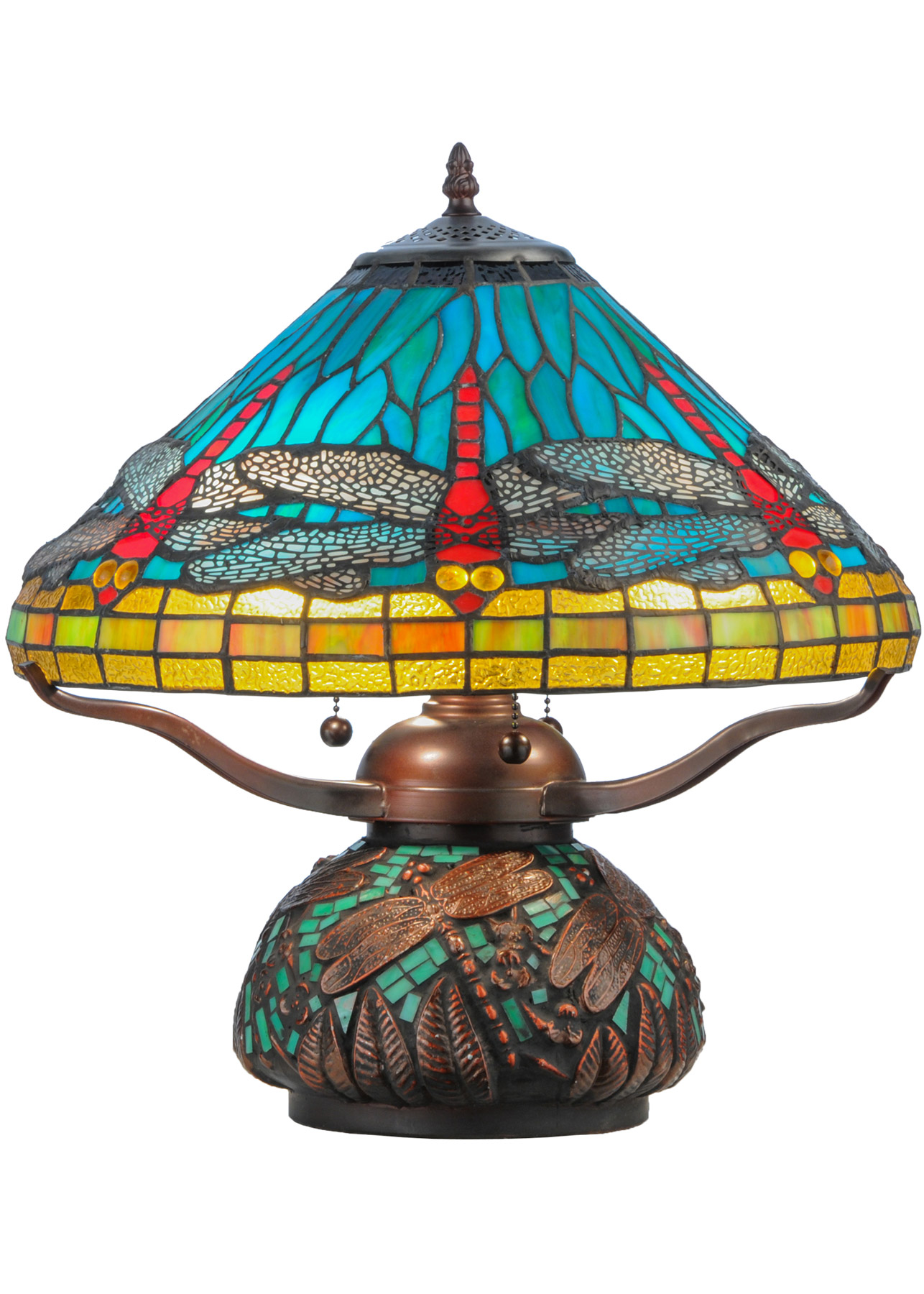 Meyda 27159 Tiffany Dragonfly Mosaic Accent Lamp