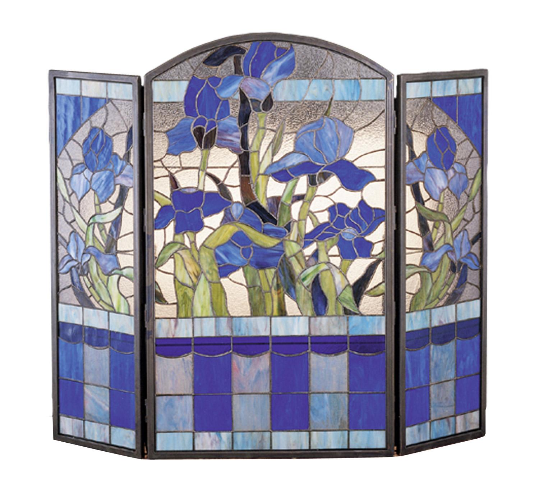 Meyda 27236 Tiffany Iris Fireplace Screen
