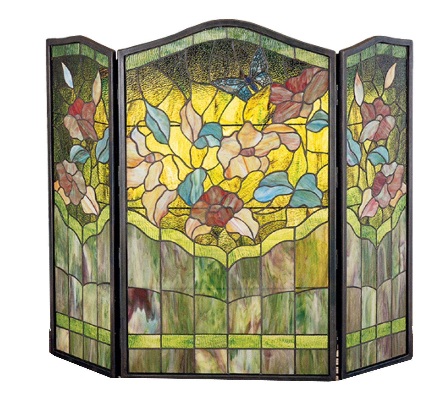 Meyda 27237 Tiffany Butterfly Folding Fireplace Screen