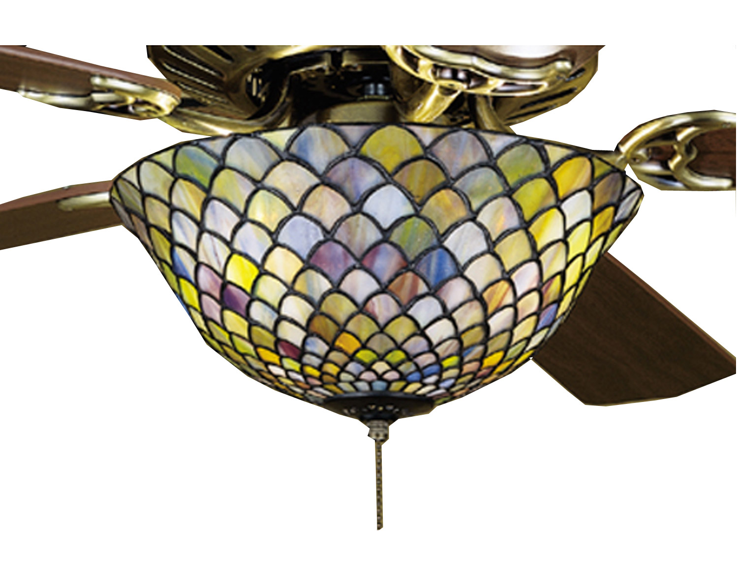 Meyda 27451 Tiffany Fishscale Fan Light Fixture