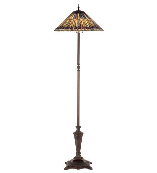 Meyda 27561 Tiffany Jeweled Peacock Floor Lamp