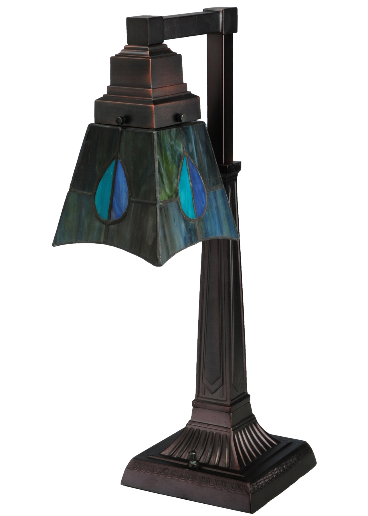 Meyda 27637 Mackintosh Leaf Desk Lamp